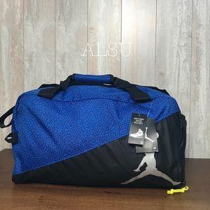 Nike Jordan Elemental Duffle Sport Bag Blue Black